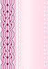 Векторный клипарт: Розовый фон с орнаментом-кнотом