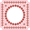 Vector clipart: pink ethnic style frame