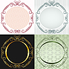 Vector clipart: round frame in antique style