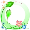 Векторный клипарт: Зеленая рамка с весны цветы и листья