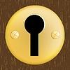 Векторный клипарт: Дверь замочную скважину