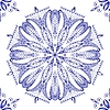 Vector clipart: Beautiful blue pattern Seamless
