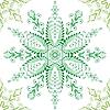 Векторный клипарт: Красивый зеленый узор бесшовные
