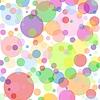 Векторный клипарт: Белый квадрат фоне разноцветных пузырьков