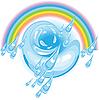 Векторный клипарт: дождь и радуга