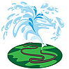 Vector clipart: watering lawns