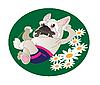 Comical drawing of French Bulldog