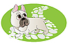 Vector clipart: Comical drawing of French Bulldog