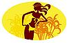 Mädchen in einem gelben Bikini