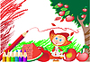 Vector clipart: Red pencil and girl