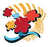 Vector clipart: Bright flowers