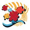 Векторный клипарт: Яркие цветы