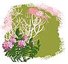 Цветущий куст | Векторный клипарт