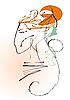 Векторный клипарт: Профиль женщины
