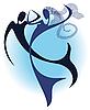 Dance under water | Stock Vector Graphics