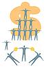 Vector clipart: Business - pyramid