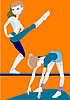 Vector clipart: Exercises
