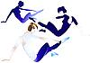 Vector clipart: Gymnasts