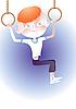 Redhead gymnast boy