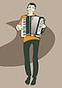 Vector clipart: Harmonica