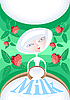 Vector clipart: Fresh milk with strawberries