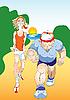 Vector clipart: Morning jogging