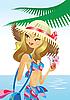 Vector clipart: Tropic beach