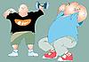 Vector clipart: Two fat men
