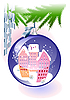 ID 3082931 | Blaue Weihnachtskugel | Stock Vektorgrafik | CLIPARTO