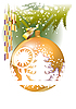 Vector clipart: Gold Christmas ball