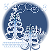 Vector clipart: Stylized winter forest
