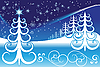 Vector clipart: Stylized winter landscape