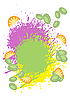 Vector clipart: Background of tropical fruits