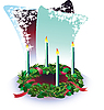 Vector clipart: Advent wreath with candles
