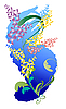 Vector clipart: Bouquet of wildflowers