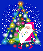 Vector clipart: Santa Claus and Christmas tree