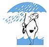 Человек под зонтиком