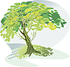 Vector clipart: large green tree