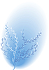 Vector clipart: Flowering blue bush