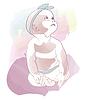 Vector clipart: Baby girl