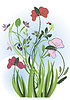 Vector clipart: Wildflowers