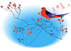 Vector clipart: Red parrot