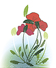 Vector clipart: Red wildflowers