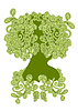 Vector clipart: Green, an abstract tree