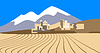 Vector clipart: city ​​in desert