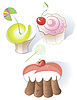 Vector clipart: Different kinds of cakes