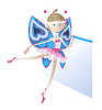 Vector clipart: Girl - dancer dressed as butterfly