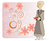 Vector clipart: A young Buddhist monk
