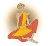 Vector clipart: Buddhist monk