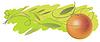 Vector clipart: An orange on banner